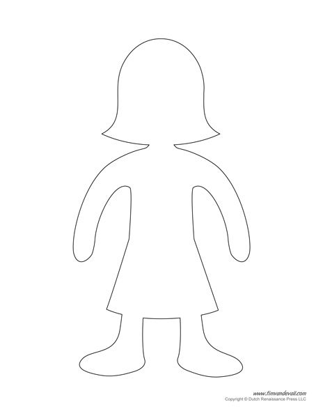 Girl Body Outline Printable