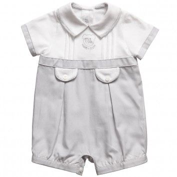 Mayoral  Baby Boys Cotton White & Grey Shortie