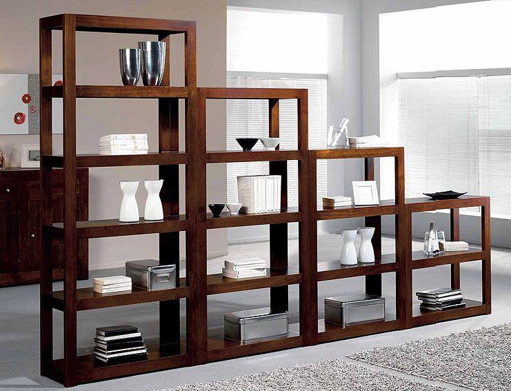 Muebles librerias modernas good mesa de comedor queen for Muebles coloniales malaga
