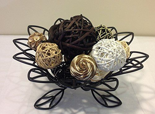 Decorative Rattan Balls Jodhpuri Incdecorative Spheres Black Rattan Vase Filler