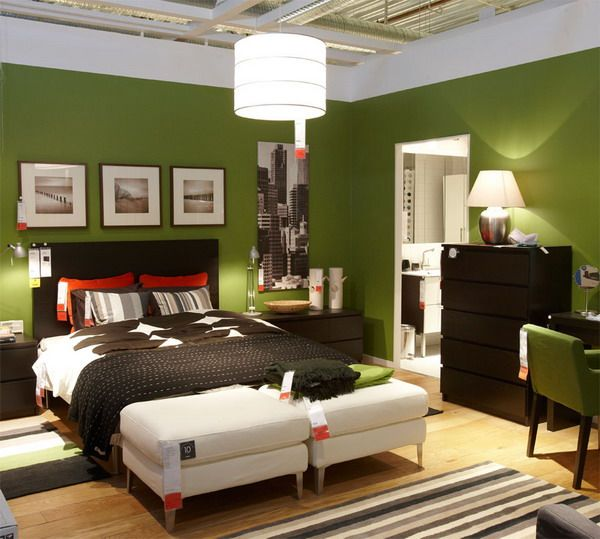 Warm Green Bedroom Colors