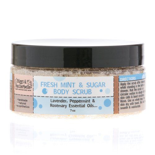 15% Off was $11.49, now is $9.77! Biggs & Featherbelle Body Scrub, Fresh Mint and Sugar, 7 Ounce