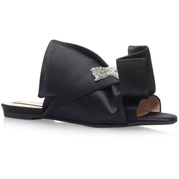 5205a963c6f8 21 Satin Bow Cat Slipper Shoes ( 610) ❤ liked on Polyvore featuring