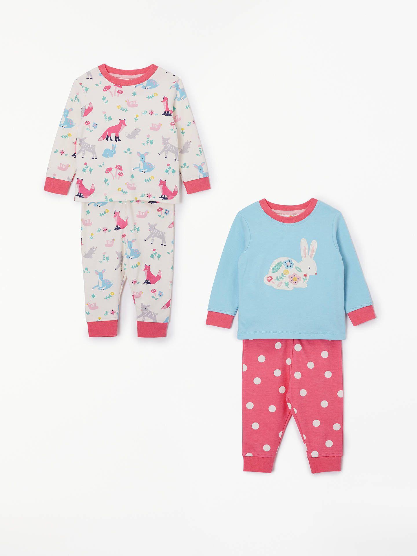 952fffd36f10 John Lewis   Partners Baby GOTS Organic Cotton Woodland Pyjamas ...