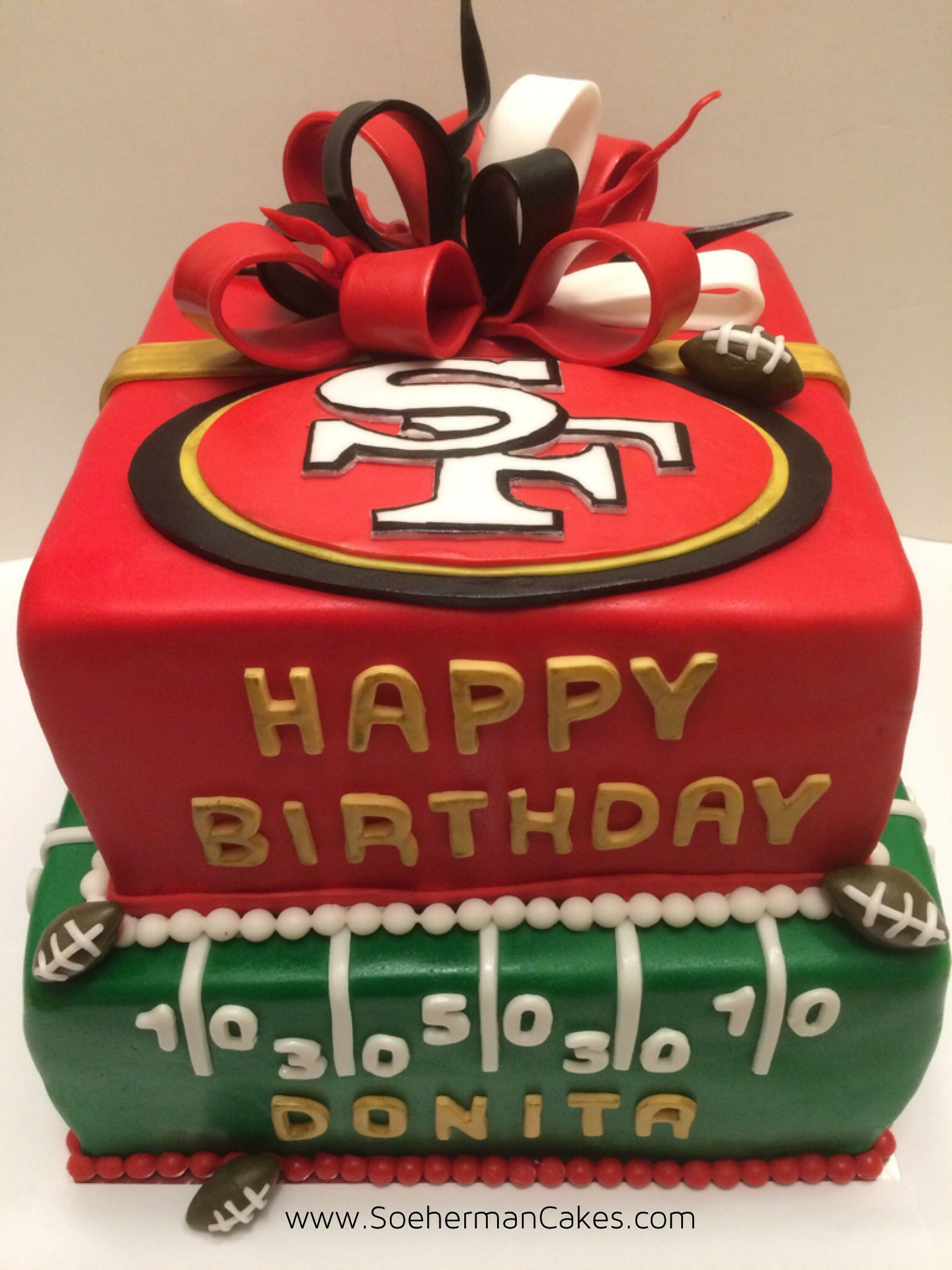 49ers Cake Without Bow For Logan S 1st Birthday With Images