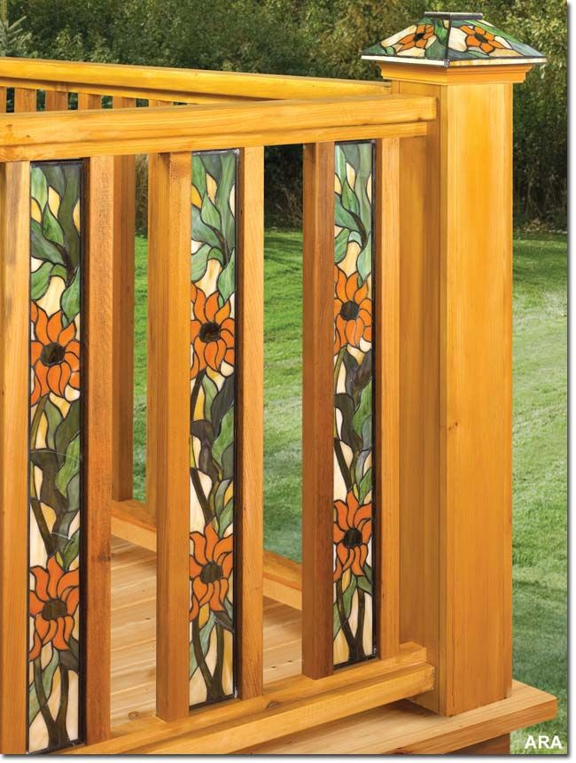 find this pin and more on house ideas stained glass deck railing