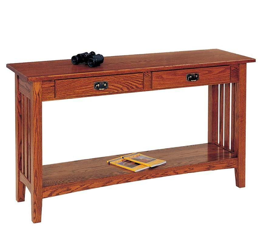 Amish Living Room Mission Sofa Table Keystone Collection Tables Accent