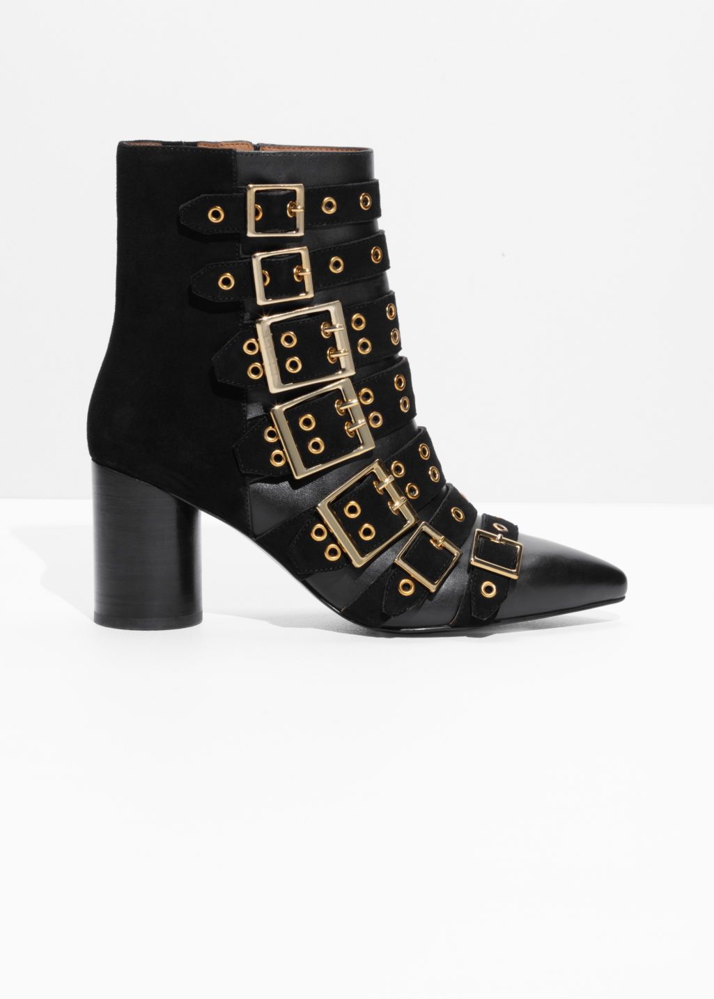 030f060fca3 Multi Buckle Ankle Boots - Black - Ankleboots - & Other Stories ...