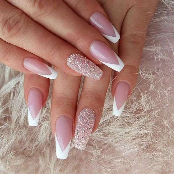 30 Unique Coffin Nails Are Definitely Your Choice Nails Natural Nails Solid Color Nails Acrylic N Pretty Nail Art Designs Classic Nails Pretty Nail Designs