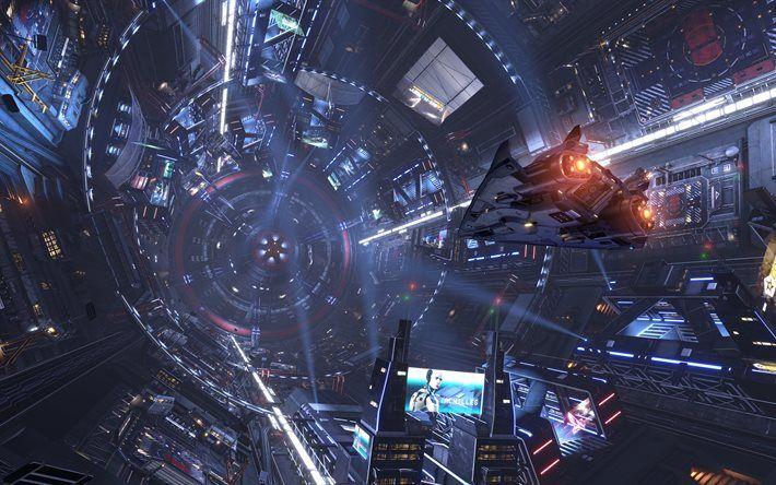 Download Wallpapers Elite Dangerous 4k 2016 Games Ps4 Besthqwallpapers Com Action Sci Fi Movies Hollywood Science Fiction Movies Science Fiction Movies
