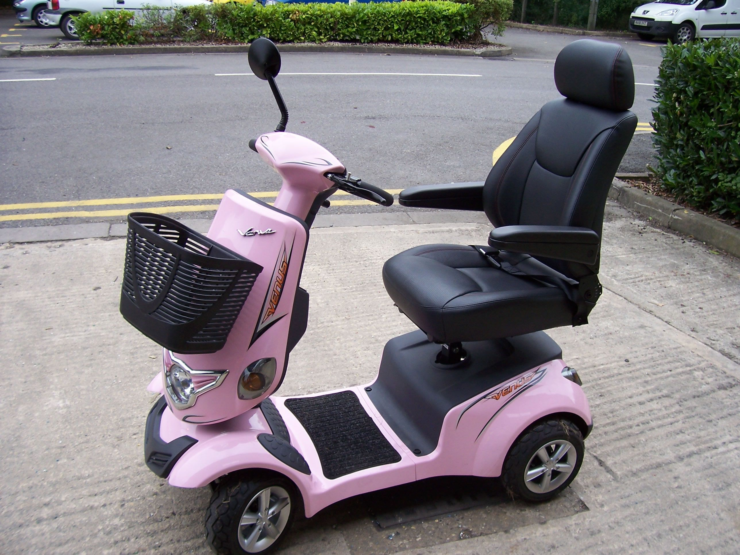 power chair car carrier one and half sleepers pink mobility scooter motability scooters powerchairs
