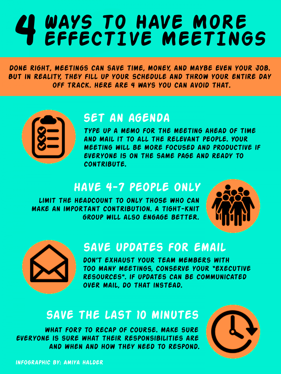 4 ways to have more effective meetings  infographic