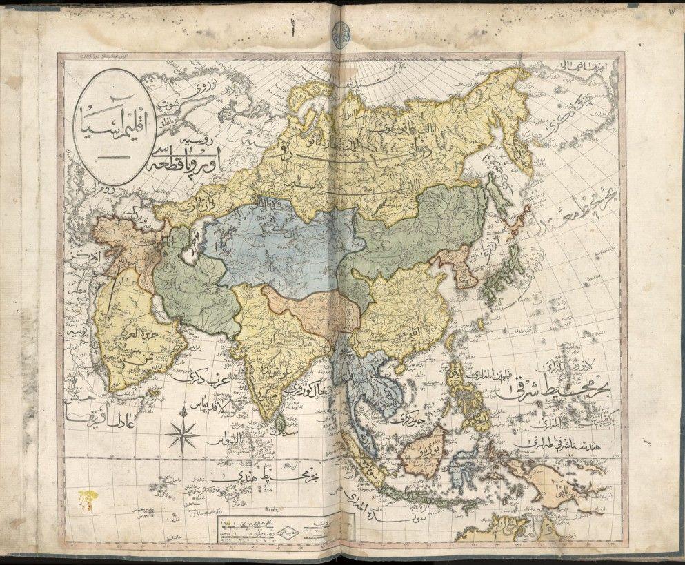 Le Cedid Atlas Le Premier Atlas Moderne Du Monde Musulman Carte Asie Musulman Monde Musulman