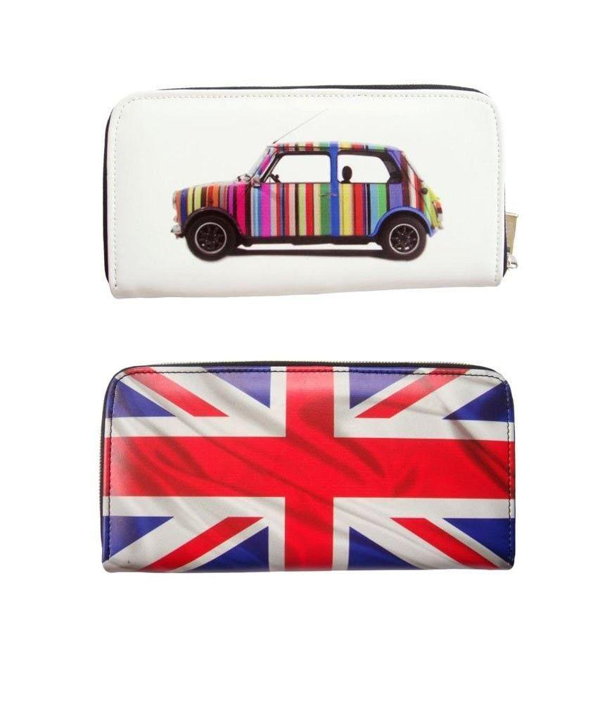 c78b16c4d4f5 Mini Cooper UK Great Britain Flag Rainbow Money Case Travel Wallet ...