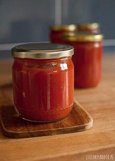 najprostszy przecier pomidorowy - zielony środek