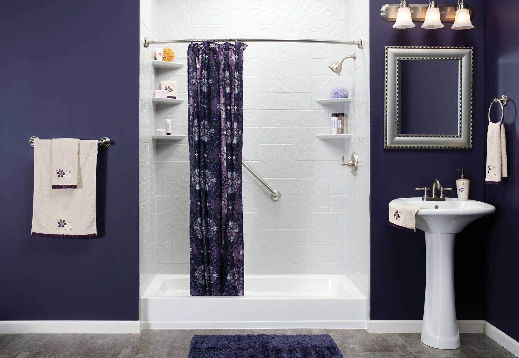 Dark violet | Bathrooms and Laundry Rooms | Pinterest | Dark purple ...