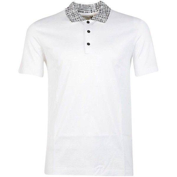 be054017fd75 Balenciaga Polo Shirts ($135) ❤ liked on Polyvore featuring men's fashion, men's  clothing, men's shirts, men's polos, bianco, mens white polo shirt, mens ...