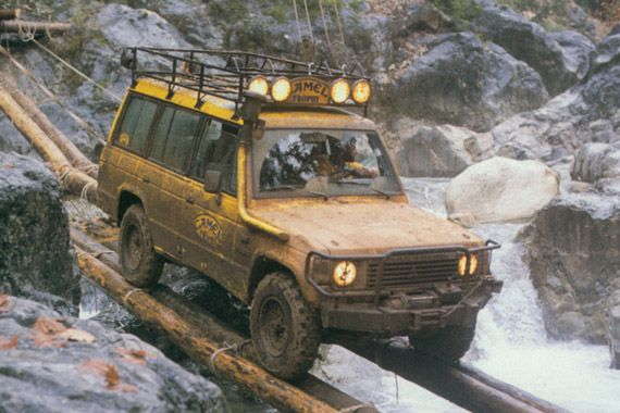 Hempstead Jeep Mitsubishi Pajero in Camel Trophy guise | Vehicles ...