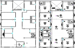 Ground and first floor general plan of office building dwg