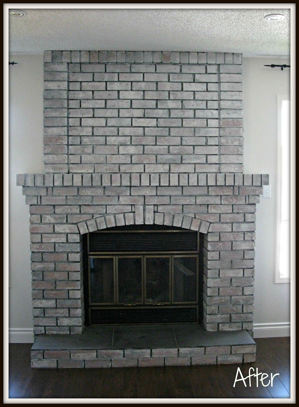 Image Result For Whitewash Fireplace With Dark Grout Brick