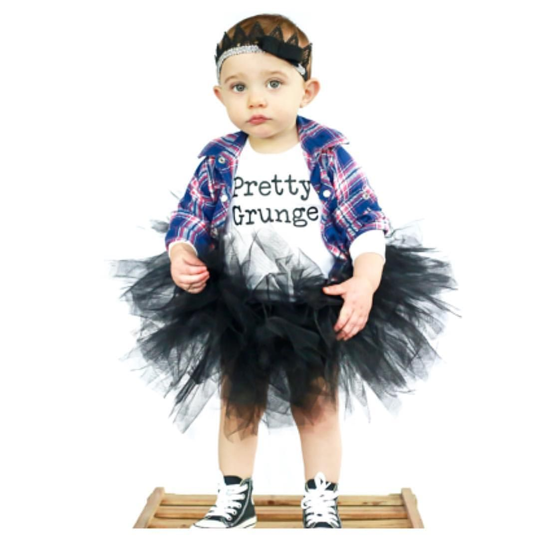 """Little Wonderland Clothing on Instagram: """"Who said Grunge can't be Pretty?! These people just do not know  Joss go on with your cute self in our New •Pretty Grunge• tee with her super cute tutu @tinandella + little 90s flannel + headband @gabowlicious_  How pretty grunge are you?! #girl #fashion #fashionista #kidsfashion #grunge #prettygrunge #alternative #hipkidfashion #trendy #style #igkiddies #stylish #stylishkids #rad #denim #love #ootd #tutu #love #tee #fashionicon"""