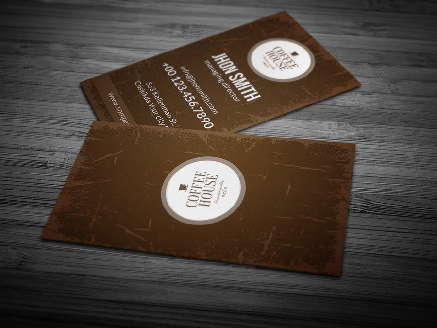 Coffee Business Card 03 Affiliate Easy Edit Customizable