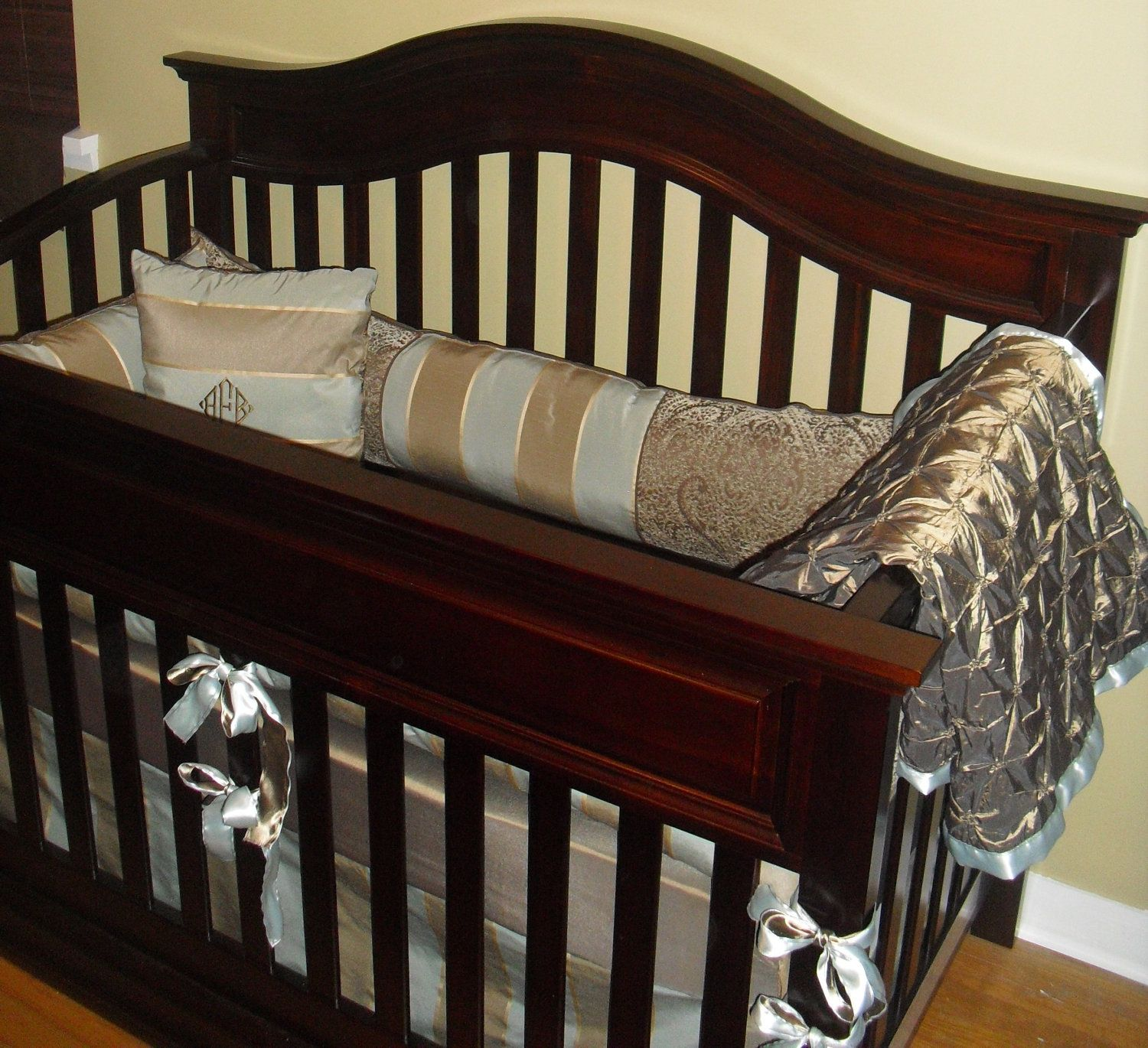 Custom Luxury Baby Boy Crib Bedding 399 00 Via Etsy