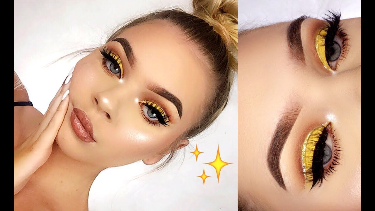 Nose piercing scar after removing  Gold Glitter Cut Crease Makeup Tutorial  Макияж Мakeup