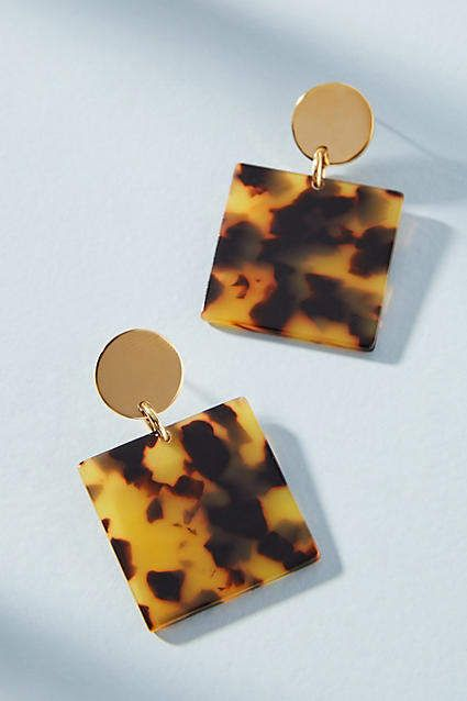 Amber Sceats Nevada Square Drop Earrings