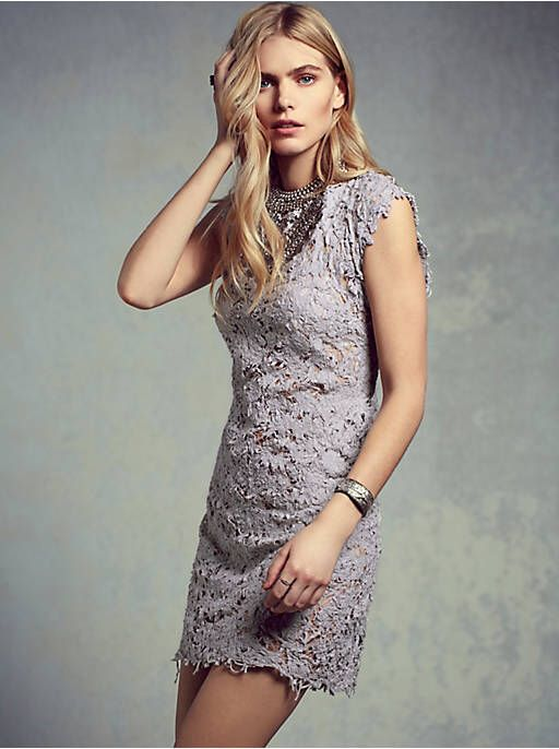 Free People Destroyed Lace Shift, $340.00