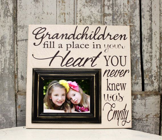 Personalized Grandparents Gift with Grandkids Frame, Grandparents ...