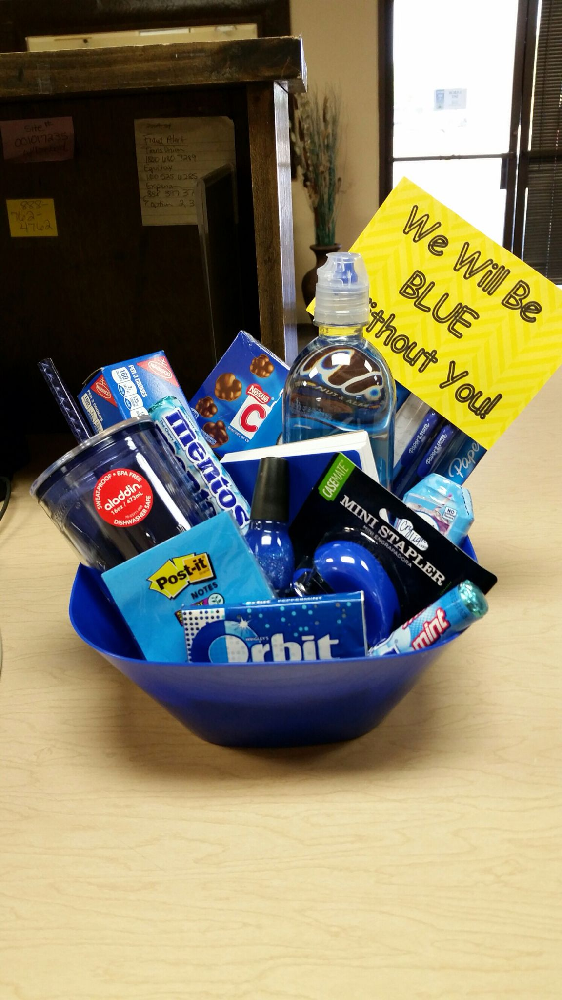 Farewell Ideas For Coworkers - Make your gifts special make your life special blue bouquet going away gift for co worker who is leaving