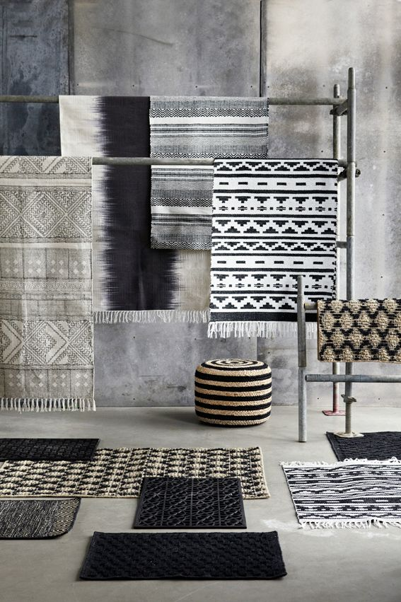 I M Very Excited By The New Collection Of Handwoven Rugs House Doctor Like Block Rug From Last Season Featured Below