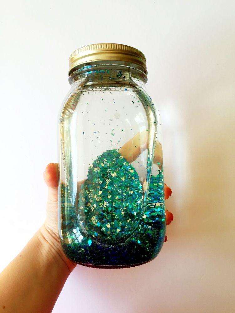 Diy Mindfulness Glitter Jar Glitter Jars Glitter Diy Projects Glitter Projects