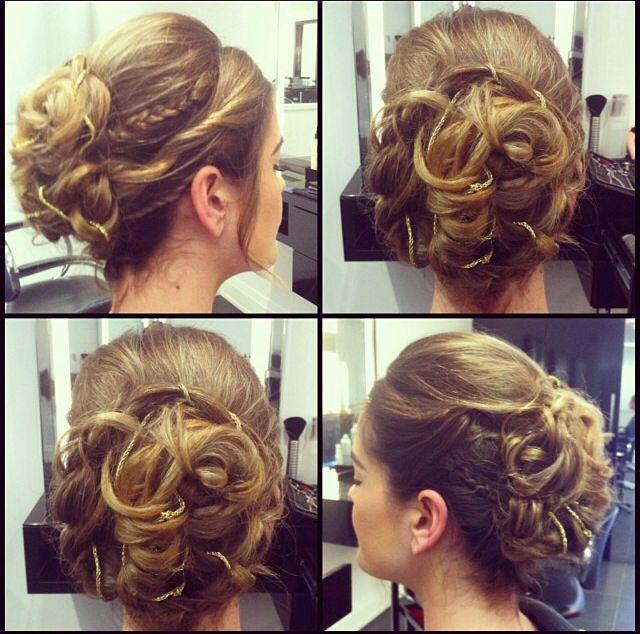 greek goddess inspired halloween hair updo with a bit of
