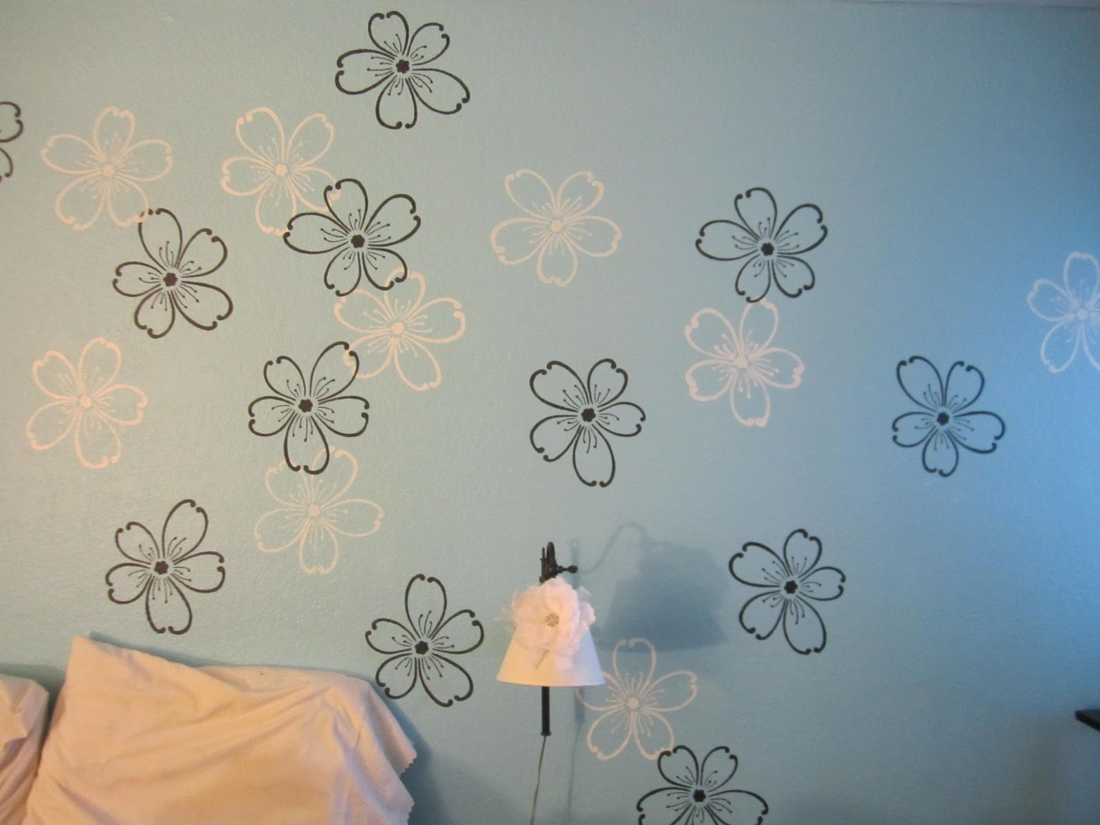 On The Wall Painting Wall Paint Stencils With Beautiful Wall Painting Flower Stencils