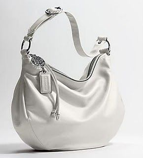 White Leather Coach Purse Love The