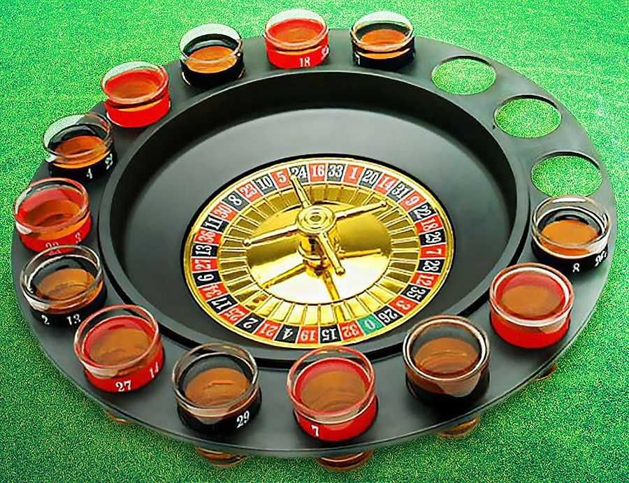 Drinking game glass roulette cool gifts couple gifts