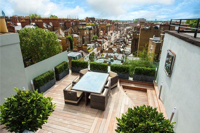 London Homes With Gorgeous Roof Gardens Roof Garden Rooftop Garden Roof Terrace Design