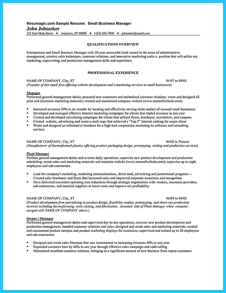 Business Management Resume Nice Make The Most Magnificent Business Manager Resume For