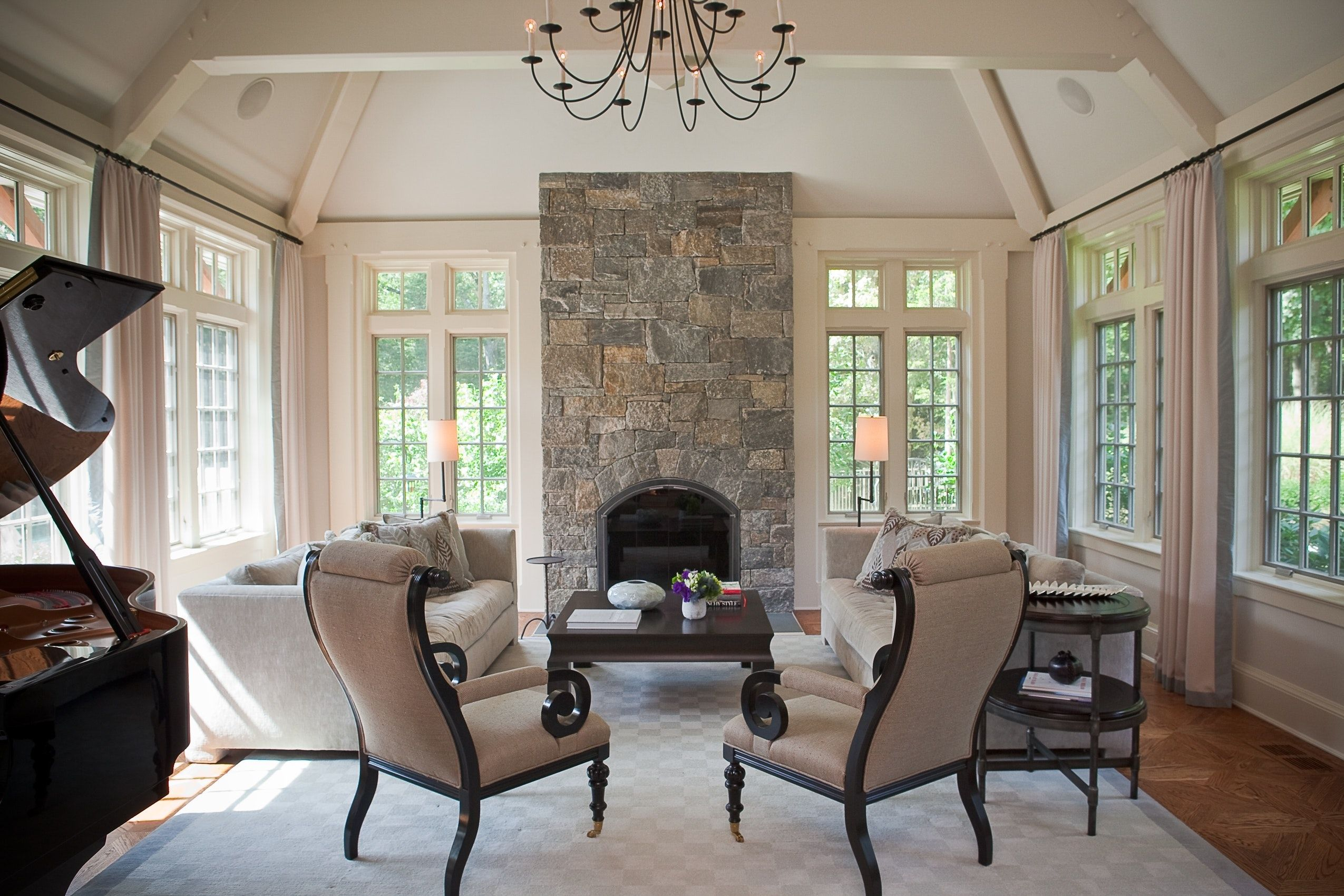 An Eclectic Mix In A Country Living Room Westchester Ny Country