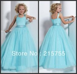 Online Shop little girls pageant dresses sweetheart tank floor-length chiffon beading pageant dresses 2013|Aliexpress Mobile