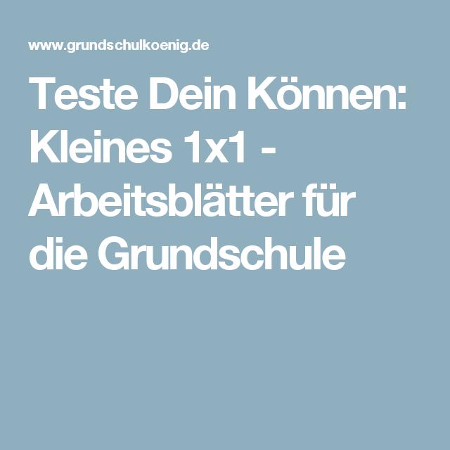 Teste Dein Können: Kleines 1x1 - Arbeitsblätter für die Grundschule ...