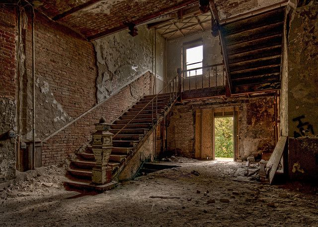 Abandoned Castle On The Hill In Dansville Ny