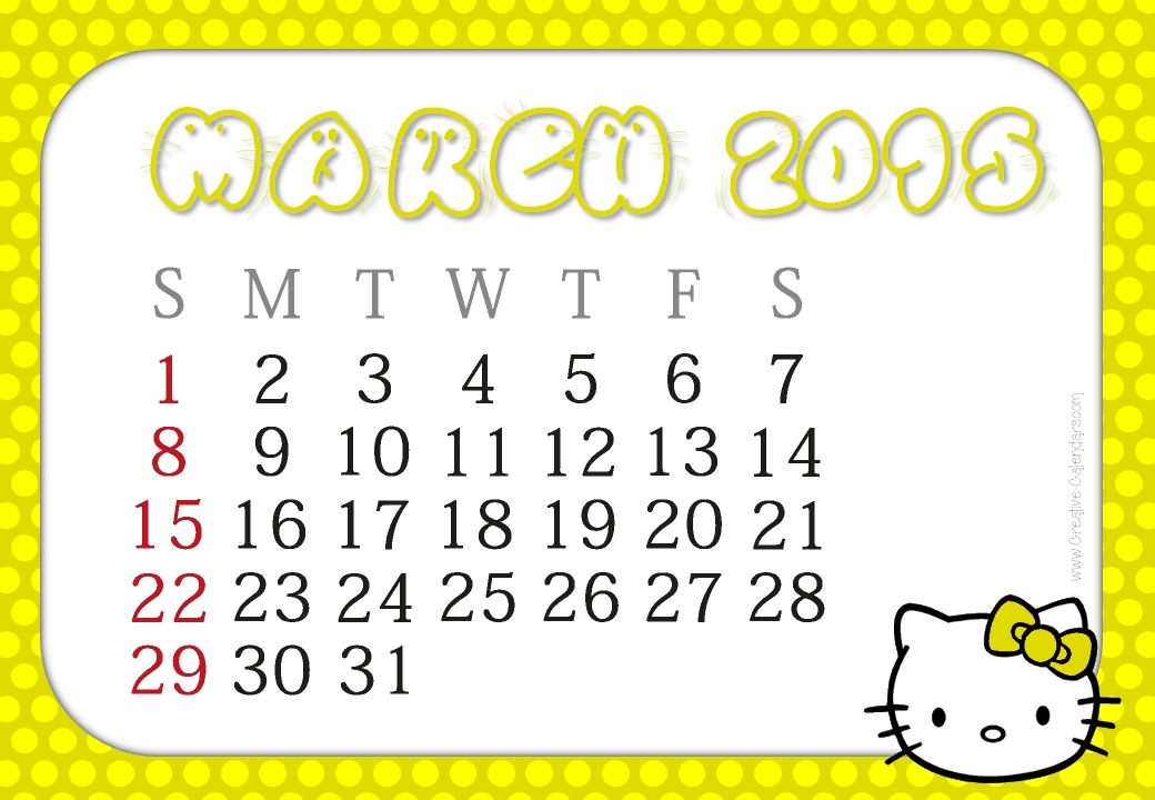 Best Collection Of March 2015 Uk Calendar Printable Template Cute