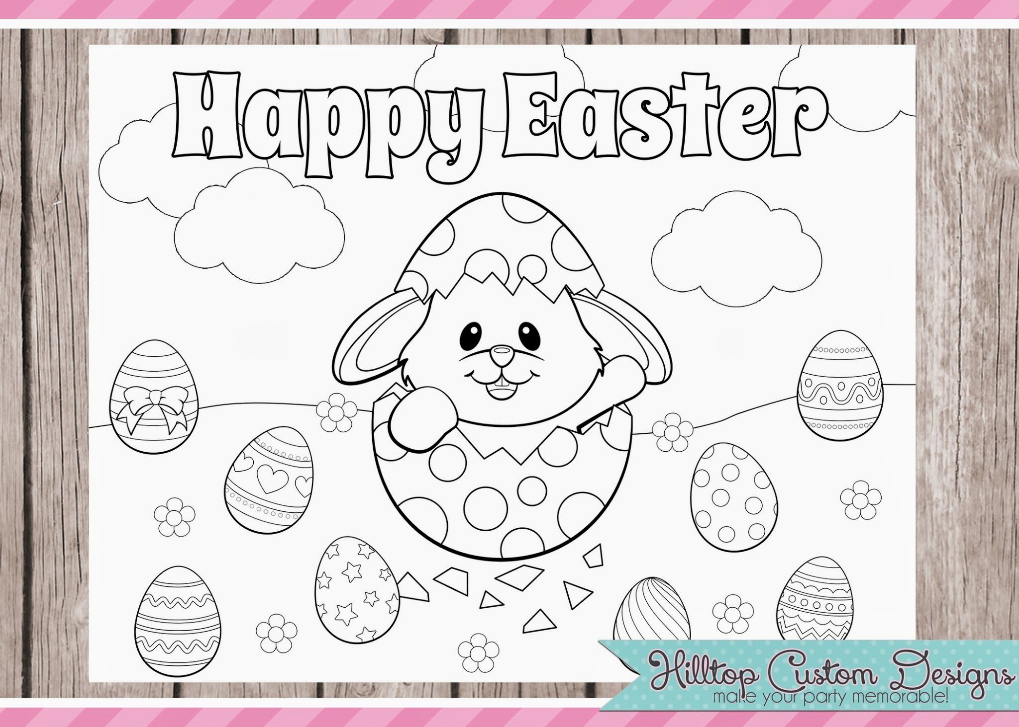 Freebies With Images Easter Placemats Easter Coloring Pages