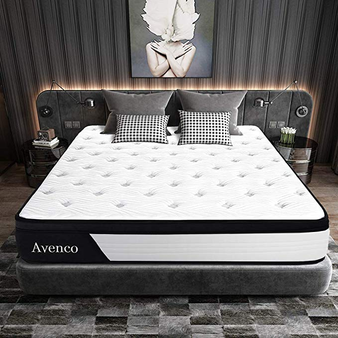 Amazon Com Queen Mattress Avenco Hybrid Mattress Queen 10 Inch Innerspring And Gel Memory Foam Mattress In Mattress Queen Mattress Size Most Comfortable Bed