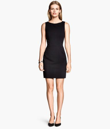 6bb6030eebe6eb H M Getailleerde jurk - Zwart
