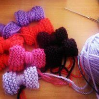 Knitting - Πλεκτά φιογκάκια
