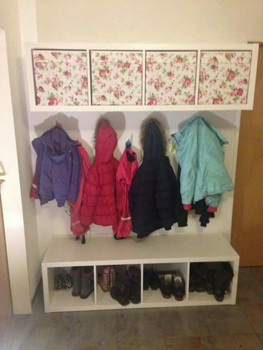 kinder garderobe ikea hacks in 2018. Black Bedroom Furniture Sets. Home Design Ideas
